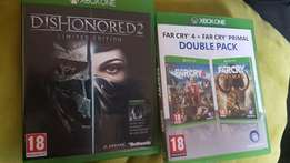 Farcry boxset and dishonored 2 xbox one