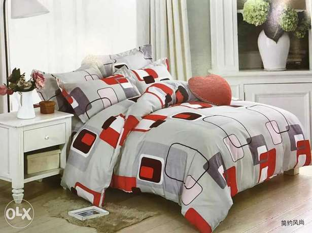 Warm cotton duvets with one matching bedsheet and 2 pillowcases Kitengela - image 3