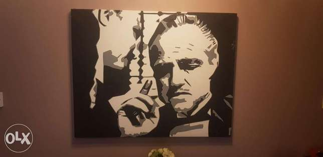 "Original Handpainted ""The GodFather "" Size 1 m X 1 m"