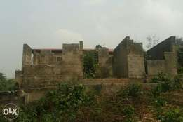 A Plot of Land with uncompleted building for Sale at Solo made,Ikorodu