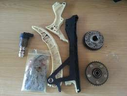 Bmw E90 N46 engie vanos pulies x2 and timing chain+guides .