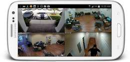 Cctv monitor on the phone