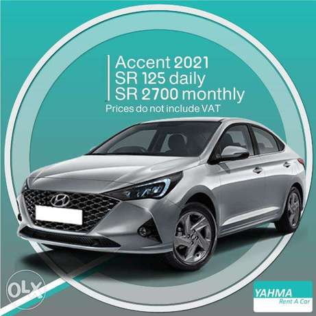 Hyundai Accent 2021 for rent