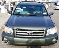 Tokunbo 2006 Toyota Highlander 3 Rows Sweet Green