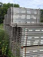 lot of 50 USED aluminum board w/plywood deck 7' X 19
