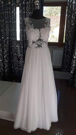 be8e968e2f Suknia ślubna rozmiar 34-36 Leszno - image 1