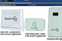 Spectranet wireless mi-fi