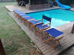 Director's chairs for sale.
