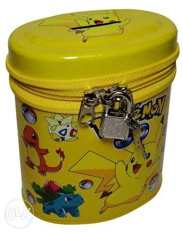 Brand New Cylinderical Money Box - Pokemon