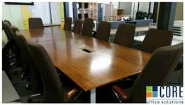 14 Seater Boardroom Table + 14 Chairs