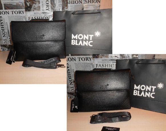 8c1373c25fd6 Кожаный мужской портфель, сумка Mont Blanc, Италия 131-5,130-5 Запорожье -