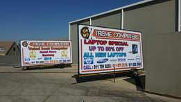 Complete 3m x 6m advertising trailer