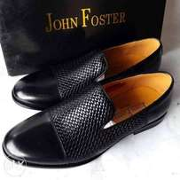 Brand New Burcless Black Check-designed John Foster Shoe