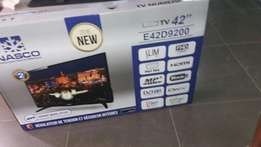 "It is the latest Nasco HD inches TV decoder inbuilt ""42 led satellite"
