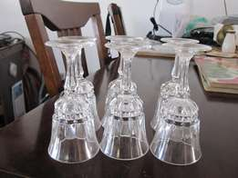 6 Christal D'Arc Sherry Glasses