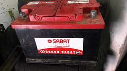 Sabat 652 car battery in mint condition for sale