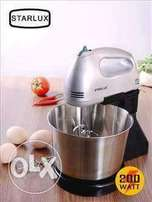 stainless steel hand mixer with a bowl