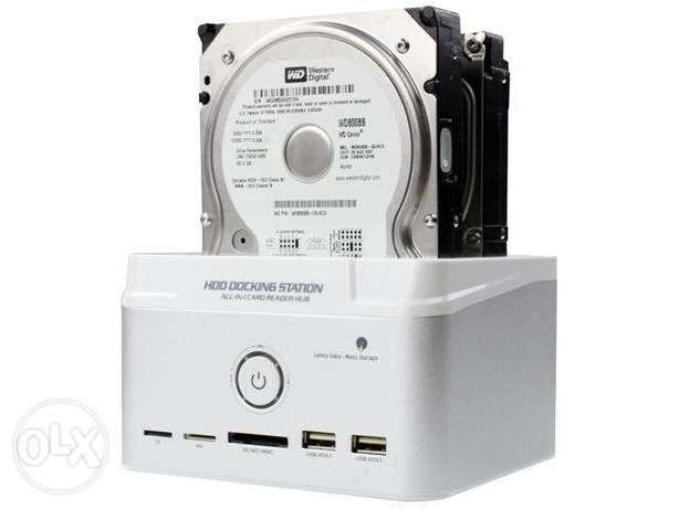 "KEERUN Dual Bay 2.5"" 3.5"" SATA IDE SSD Hard Drive Docking Station"