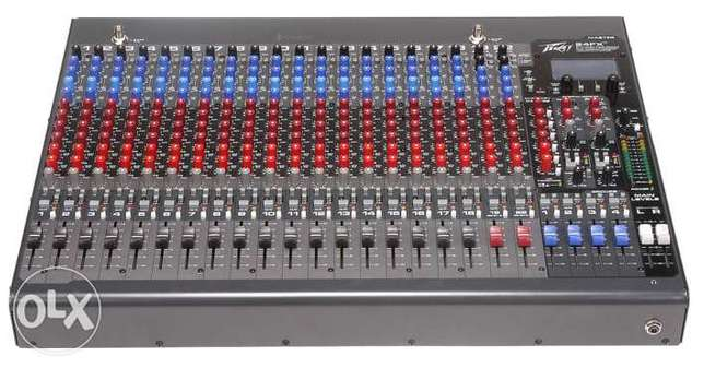 mixer peavey 24 input,double effect,6 aux,usb play & record+processeur