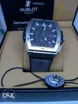 Hublot grey rectangle watch
