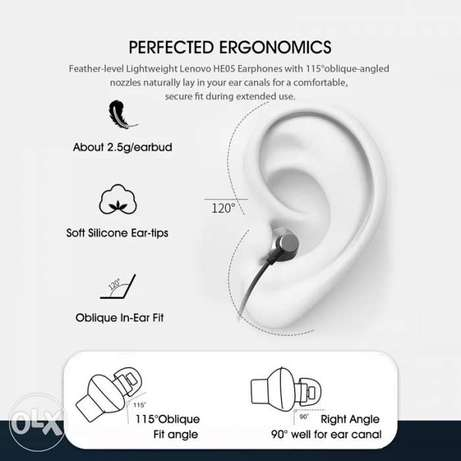 Lenovo Bluetooth Headphones HE05 Wireless with Mic Noise Cancelling الرياض -  7