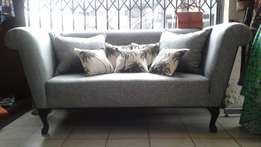 NEW 2 seater Grey / Silver Couch _R4800