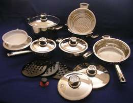 16 Piece 18/10 Stainless Steel Cookware Set - (Demo Set)