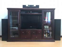 Solid Wood Mahogany TV Cabinet