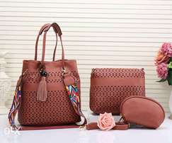 Quality leather made handbags.