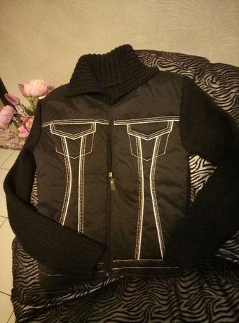Черная осенняя куртка пиджак вязанка новая женская Одеса - зображення 1 fea3a28ec908f