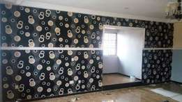 Don't paint. Use wall papers. Fracan Wallpaper Abuja