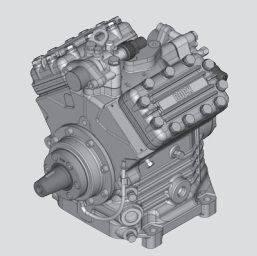 Bock FK40 pneumatic compressor for refrigeration unit
