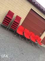 Elegant office and home use red arm seats at10. 5k