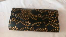 Black and gold evening purse