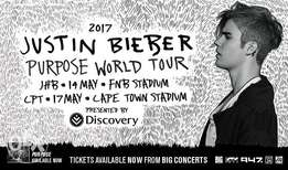 Justin Bieber Purpose Tour 2017 Ticket