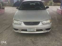 A Sharp Toyota corolla 2001 model for sell at affordable price