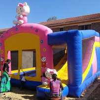 Bouncing castles for hire and sale.
