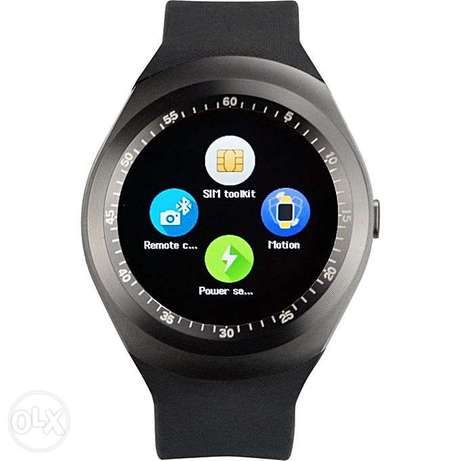 Y1 Sporty Smart Phone Touchscreen Watch With Sim ToolKit (Mpesa Menu) Nairobi CBD - image 1