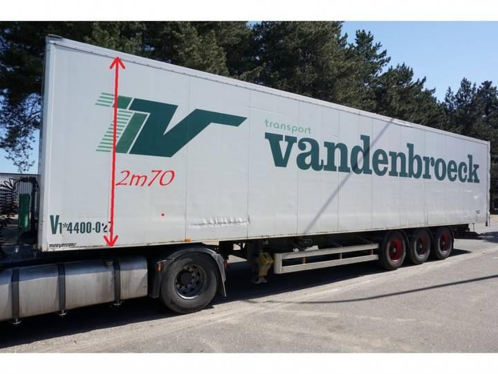 Van Hool 3-axles BPW - CLOSED BOX / CAISSE FERMEE - DRUM BRAKES / - 1997