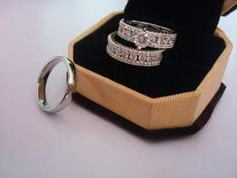 Leyla Williams Queen Silver Wedding & Engagement Set Of Ring A1
