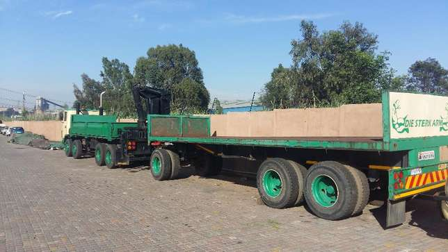 ERF crane truck with 8500kg working crane and a 12 ton drawbar trailer Germiston - image 2