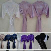 bridal robes and tee shirts