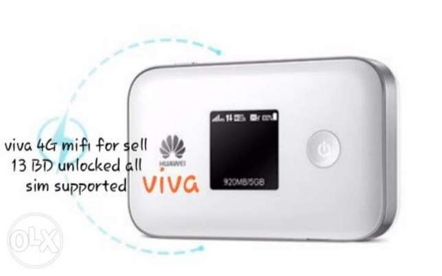 viva 4G mifi for sell 13 BD unlocked all sim supported