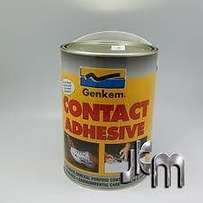 5 litre tins of Genkem Contact adhesive new unopened tins over ordered