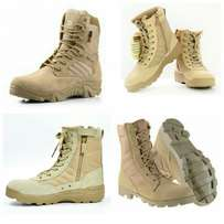 Delta Army boots.