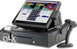 Pos point of sale setup hardware and software solution