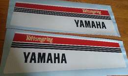 Pair of 1980 Yamaha outboard motor cowl graphics for sale  Johannesburg