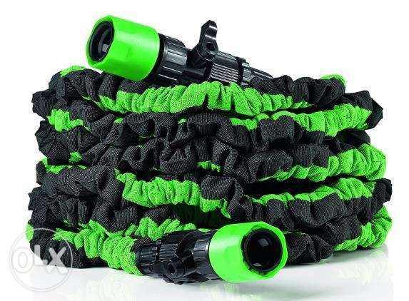 EasyMaxx flexible garden hose, 7.5 m / 3$ delivery charge / 1$ =1500L