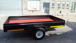 Galvanized flatbed/car trailers for sale.