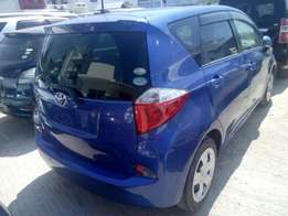 Toyota ractis 2010 blue new shape 2wd